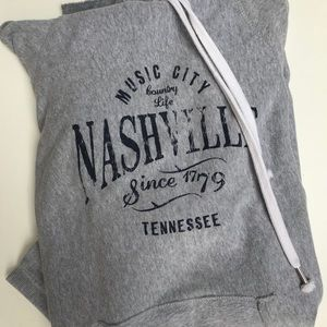 Tops - Nashville Tennessee Super Long Hoodie